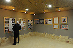 A man tours a museum for Syrian-Druze legacy, in the Druze village of Majdal Shams, Golan Heights.