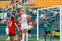 Rochester, NY - Friday June 17, 2016: Western New York Flash midfielder Samantha Mewis (5), Portland Thorns FC midfielder Tobin Heath (17),  after a regular season National Women's Soccer League (NWSL) match between the Western New York Flash and the Portland Thorns FC at Rochester Rhinos Stadium.