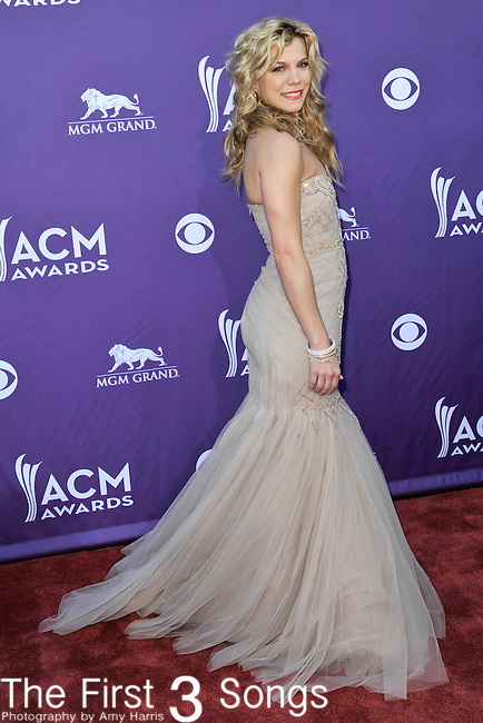 Kimberly Perry of The Band Perry attends the 47th Annual Academy of Country Music Awards in Las Vegas, Nevada on April 1, 2012.