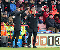 Manager Eddie Howe (R) of Bournemouth with Assistant Manager Jason Tindall (L) of Bournemouth during the Premier League match between Bournemouth v West Bromwich Albion played at Vitality Stadium, Bournemouth United Kingdom  on 17 Mar 2018