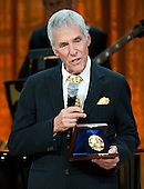 Gershwin Prize recipient Burt Bacharach delivers remarks during a concert honoring him and fellow award winner Hal David, in the East Room at the White House in Washington on May 9, 2012. .Credit: Kevin Dietsch / Pool via CNP