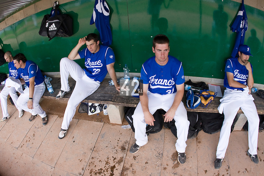 BASEBALL - GREEN ROLLER PARK - PRAGUE (CZECH REPUBLIC) - 24/06/2008 - PHOTO: CHRISTOPHE ELISE.DUGOUT (TEAM FRANCE)
