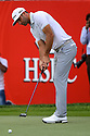 Dustin Johnson (USA) during the final round of the Abu Dhabi HSBC Golf Championship played at Abu Dhabi Golf Club 19-22 January 2017.(Picture Credit / Phil Inglis)