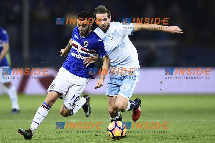 Bruno Fernandes Sampdoria, Senad Lulic Lazio <br /> Genoa 10-12-2016 Stadio Marassi Football Calcio Serie A 2016/2017 Sampdoria - Lazio foto Image Sport/Insidefoto