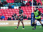 4th November 2017, Welford Road, Leicester, England; Anglo-Welsh Cup, Leicester Tigers versus Gloucester;  Afa Pakalani in action for Leicester Tigers