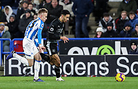 Burnley's Dwight McNeil competing with Huddersfield Town's Florent Hadergjonaj<br /> <br /> Photographer Andrew Kearns/CameraSport<br /> <br /> The Premier League - Huddersfield Town v Burnley - Wednesday 2nd January 2019 - John Smith's Stadium - Huddersfield<br /> <br /> World Copyright © 2019 CameraSport. All rights reserved. 43 Linden Ave. Countesthorpe. Leicester. England. LE8 5PG - Tel: +44 (0) 116 277 4147 - admin@camerasport.com - www.camerasport.com