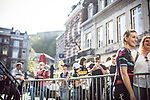 Pauline Ferrand Prevot (FRA) Canyon-Sram Racing at the Team presentation of La Fleche Wallonne Femmes 2018 running 118.5km from Huy to Huy, Belgium. 17/04/2018.<br /> Picture: ASO/Thomas Maheux | Cyclefile.<br /> <br /> All photos usage must carry mandatory copyright credit (© Cyclefile | ASO/Thomas Maheux)