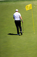 Shane Lowry (IRL) on the 15th fairway during Wednesdays preview at the The Masters , Augusta National, Augusta, Georgia, USA. 10/04/2019.<br /> Picture Fran Caffrey / Golffile.ie<br /> <br /> All photo usage must carry mandatory copyright credit (&copy; Golffile | Fran Caffrey)