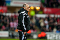 Francesco Guidolin, Manager of Swansea City  during the Barclays Premier League match between Swansea City and Southampton  played at the Liberty Stadium, Swansea  on February 13th 2016
