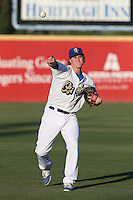 Brandon Dixon (9) of the Rancho Cucamonga Quakes throws before a game against the High Desert Mavericks at LoanMart Field on August 3, 2015 in Rancho Cucamonga, California. Rancho Cucamonga defeated High Desert, 2-1. (Larry Goren/Four Seam Images)