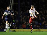 Sheffield United's Billy Sharp fires in a shot during the League One match at Roots Hall Stadium.  Photo credit should read: David Klein/Sportimage