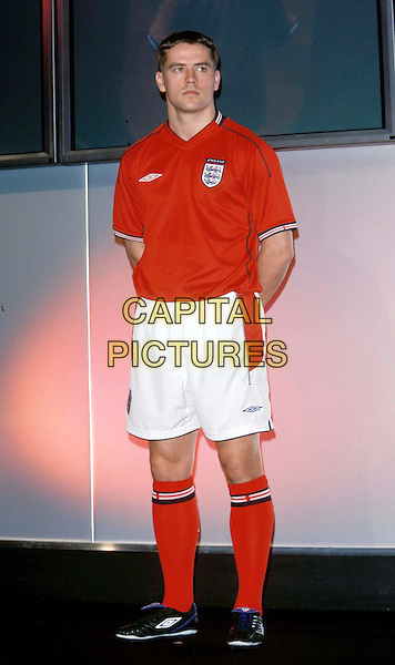 MICHAEL OWEN.Umbro Launches New England Away Kit .Ref: 11453.half length, half-length.www.capitalpictures.com.sales@capitalpictures.com.© Capital Pictures.