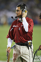1 October 2006: Walt Harris during Stanford's 31-0 loss to UCLA at the Rose Bowl in Pasadena, CA.