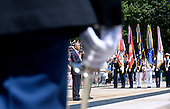 United States President Barack Obama attends a ceremony at the Tomb of the Unknown Soldier at Arlington National Cemetery, May 25, 2015 in Arlington, Virginia. <br /> Credit: Olivier Douliery / Pool via CNP