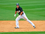 16 March 2009: Florida Marlins' outfielder John Raynor in action during a Spring Training game against the Washington Nationals at Roger Dean Stadium in Jupiter, Florida. The Nationals defeated the Marlins 3-1 in the Grapefruit League matchup. Mandatory Photo Credit: Ed Wolfstein Photo