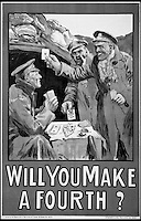 BNPS.co.uk (01202 558833)<br /> Pic:AmberleyPublishing/BNPS<br /> <br /> ***Please Use Full Byline***<br /> <br /> A World War One poster. <br /> <br /> A cookbook for WWI soldiers has been published for the first time in 100 years revealing the surprising recipes that British Tommies lived on in the trenches.<br /> <br /> Hundreds of thousands of troops were armed with The British Army Cook Book as they headed to off war in 1914.<br /> <br /> The book contained detailed instructions on how to rustle up mouth-watering menus to feed entire platoons using meagre war-time rations.<br /> <br /> The dishes might sound tempting but in reality those on the frontlines would have had to rely more on powdered foods because fresh produce often took too long to reach them.<br /> <br /> The 1914 British Army Cook Book has been reprinted by Amberley Publishing for the first time since it was first issued 100 years ago.<br /> <br /> It is on sale now for &pound;9.99.