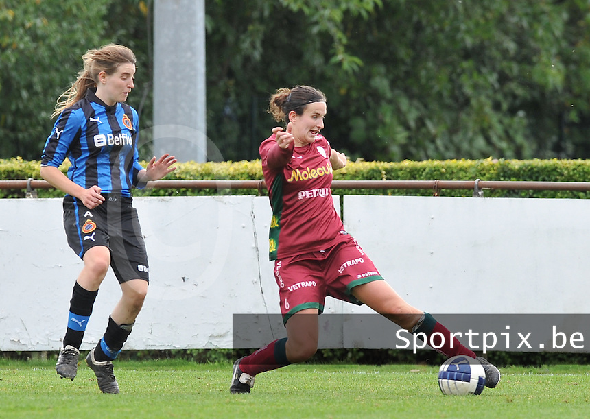 Club Brugge Dames - Dames Zulte Waregem : Joke Verlinde voor Stefanie Ninclaus.foto DAVID CATRY / Vrouwenteam.be