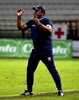 MANIZALES-COLOMBIA-13-05-2018: Hubert Bodhert, técnico de Once Caldas, durante partido de ida de los cuartos de final entre Once Caldas y Deportes Tolima, por la Liga de Aguila I 2018 en el estadio Palogrande en la ciudad de Manizales. / Hubert Bodhert, coach of Once Caldas, during a match of the first leg of the quarterfinals between Once Caldas and Deportes Tolima, for the Liga de Aguila I 2018 at the Palogrande stadium in Manizales city. Photo: VizzorImage  / Santiago Osorio / Cont.