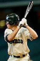 Brooks Pinckard #16 of the Baylor Bears at bat against the Utah Utes at Minute Maid Park on March 5, 2011 in Houston, Texas.  Photo by Brian Westerholt / Four Seam Images