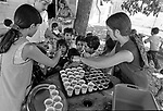 June 1972—Day-care for migrant children—Day-care Center at Westley Farm Labor Camp was mostly staffed by volunteers.  Both mothers and father worked in the fields to maximize their income.   Photo by Al Golub/Modesto Bee Photo by Al Golub/Modesto Bee
