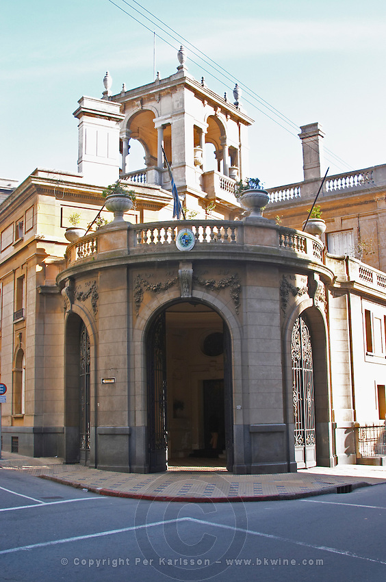 A late 19th century palace, now a government building in the Old Town Ciudad Vieja near Plaza Zabala Square. Montevideo, Uruguay, South America