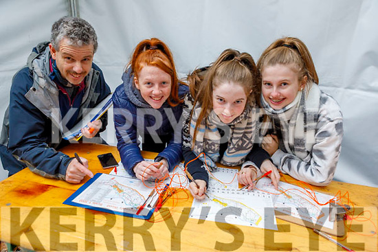 Students Clara Faggetter, Emma McClouskey and Valda Morrissey from Coláiste Gleann Lí ready to go orienteering on Friday morning in Ballyseede Woods, under the guidance of John Creagh as part of the ETB Junior Cycle Assessment,