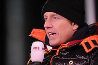 SCHAATSEN: BOEDAPEST: Essent ISU European Championships, 06-01-2012, Rintje Ritsma, commentator NOS, ©foto Martin de Jong
