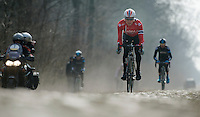 Paris-Roubaix 2013 RECON at Bois de Wallers-Arenberg..Edvald Boasson Hagen (NOR)