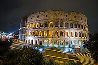 Night Photo of the Roman Colosseum