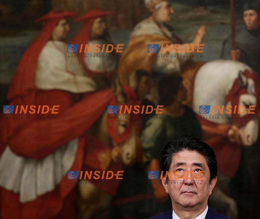 Shinzo Abe<br /> Roma 21-03-2017. Il presidente del Consiglio, riceve a Palazzo Chigi il primo ministro giapponese.<br /> Rome March 21st 2017. Italian Premier meets the prime minister of Japan.<br /> Foto Samantha Zucchi Insidefoto