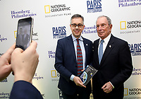 "LONDON, UK - DECEMBER 11: Mark Campanale and Michael Bloomberg attend the London Premiere of Bloomberg and National Geographic's ""Paris to Pittsburgh"" at the BAFTA Theatre on December 11, 2018 in London, UK. (Photo by Vianney Le Caer/National Geographic/PictureGroup)"
