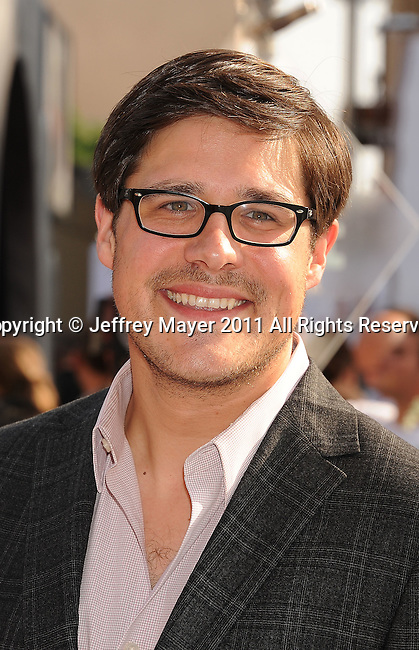 """HOLLYWOOD, CA - SEPTEMBER 25: Rich Sommer attends Premiere Of """"Iris"""" - A Journey Into The World Of Cinema By Cirque du Soleil at the Kodak Theatre on September 25, 2011 in Hollywood, California."""