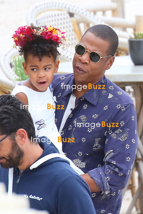 Beyonce, Jay Z , their daughter Blue Ivy &amp; friends are visiting Sainte Marguerite island near Cannes.<br /> France, French Riviera, 16 September 2015