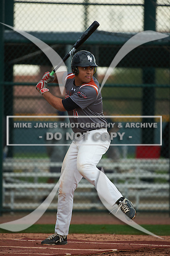 Tyson Banks (16) of Permian High School in Odessa, Texas during the Under Armour All-American Pre-Season Tournament presented by Baseball Factory on January 14, 2017 at Sloan Park in Mesa, Arizona.  (Art Foxall/Mike Janes Photography)