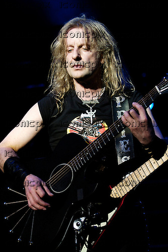 Judas Priest - guitarist KK Downing - performing live for the Teenage Cancer Trust Charity at the Royal Albert Hall in London UK - 31 Mar 2006.  Photo credit: George Chin/IconicPix