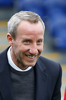 Charlton Athletic caretaker manager, Lee Bowyer is all smiles during the Sky Bet League 1 match between AFC Wimbledon and Charlton Athletic at the Cherry Red Records Stadium, Kingston, England on 10 April 2018. Photo by Carlton Myrie / PRiME Media Images.