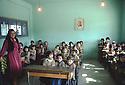 Syria 1981.In a school near Afrin , the teacher and the schoolchildren.Syrie 1981.Une ecole dans la region d'Afrin avec l'institutrice et les eleves