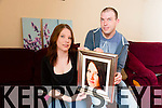 Sister Jennifer Kerins and Cousin Denis Tagney with a picture of Katie Kerins