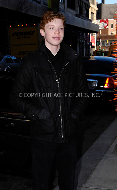 WWW.ACEPIXS.COM . . . . .  ....January 19 2012, New York City....'Shameless' actor Cameron Monaghan at a Soho hotel on January 19 2012....Please byline: CURTIS MEANS - ACE PICTURES.... *** ***..Ace Pictures, Inc:  ..Philip Vaughan (212) 243-8787 or (646) 679 0430..e-mail: info@acepixs.com..web: http://www.acepixs.com