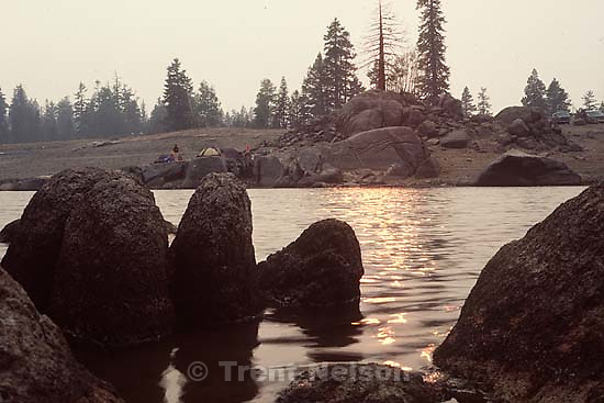 Campsite and rocks<br />