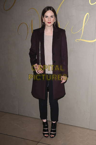 LONDON, ENGLAND - NOVEMBER 3: Michelle Dockery attends the Burberry Festive Film Premiere at Burberry Regent Street on November 3, 2015 in London, England.<br /> CAP/BEL<br /> &copy;BEL/Capital Pictures