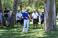 Brett Rumford (AUS) in action on the 1st during Round 2 of the ISPS Handa World Super 6 Perth at Lake Karrinyup Country Club on the Friday 9th February 2018.<br /> Picture:  Thos Caffrey / www.golffile.ie<br /> <br /> All photo usage must carry mandatory copyright credit (&copy; Golffile   Thos Caffrey)