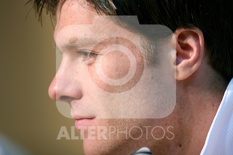 Spain's National Team player Xabi Alonso during press conference at Football City in Las Rozas, near Madrid. Thursday, May 25, 2006. (ALTERPHOTOS / ALVARO HERNANDEZ)