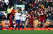 9th February 2019, Anfield, Liverpool, England; EPL Premier League football, Liverpool versus AFC Bournemouth; Georginio Wijnaldum of Liverpool celebrates with his team mates after he scores his side's second goal after 34  minutes to make the score 2-0