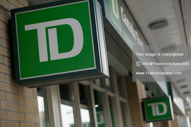 TD Canada Trust logo in Toronto financial district April 19, 2010. TD Canada Trust is the personal, small business and commercial banking operation of the Toronto-Dominion Bank (TD) in Canada.