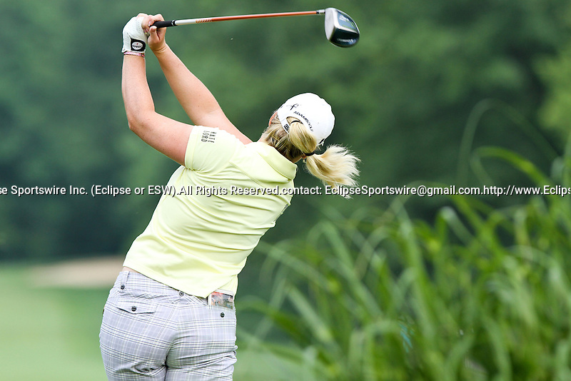 USA Brittany Lincicome tees off on the third tee at the LPGA Championship 2011 Sponsored By Wegmans at Locust Hill Country Club in Rochester, New York on June 25, 2011