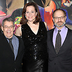 Nicholas Martin, Sigourney Weaver & David Hyde Pierce attending the Opening Night After Party for the Lincoln Center Theater production of 'Vanya and Sonia and Masha and Spike' at the Mitzi E. Newhouse Theater in New York City on 11/12/2012
