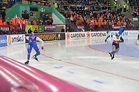 SPEEDSKATING: HAMAR: Vikingskipet, 28-02-2020, ISU World Speed Skating Championships, Sprint, 500m Men, Håvard Holmefjord Lorentzen (NOR), Artur Nogal (POL), ©photo Martin de Jong