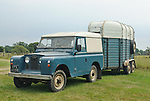 Series 2a and horsebox. Dunsfold Collection Open Day 2009. NO RELEASES AVAILABLE.