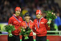 SCHAATSEN: HEERENVEEN: Thialf, KPN NK Sprint, 30-12-11, Margot Boer, Thijsje Oenema, Annette Gerritsen, ©foto: Martin de Jong.